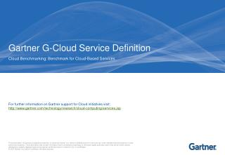 Gartner G-Cloud Service Definition