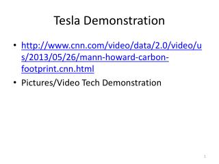 Tesla Demonstration