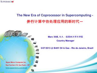 The New Era of Coprocessor in Supercomputing - ???????????????