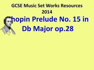 GCSE Music Set Works Resources 2014