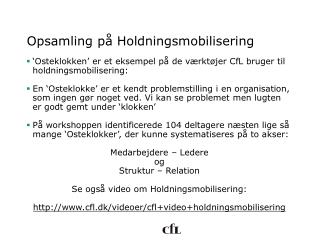 Opsamling på Holdningsmobilisering