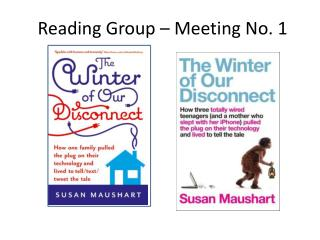 Reading Group – Meeting No. 1