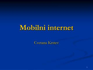 Mobilni internet