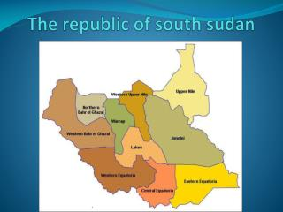The republic of south  sudan