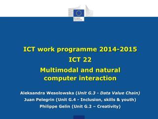 ICT work programme 2014-2015 ICT 22