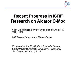 Recent Progress in ICRF Research on Alcator C-Mod