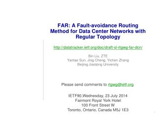 FAR: A Fault-avoidance Routing Method for Data Center Networks with Regular Topology