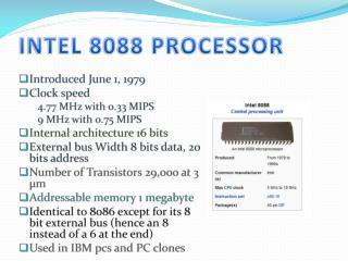 INTEL 8088 PROCESSOR