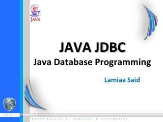 JAVA JDBC  Java Database Programming