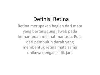 Definisi Retina