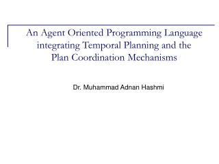 Dr. Muhammad Adnan Hashmi