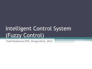 Intelligent Control System (Fuzzy Control)