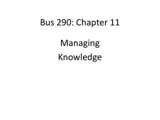 Bus 290: Chapter 11