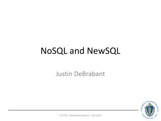 NoSQL  and  NewSQL
