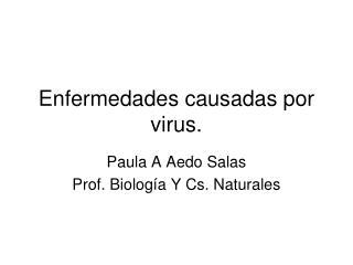 Enfermedades causadas por virus.