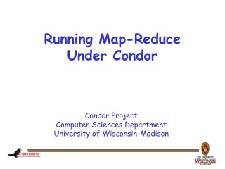 Running Map-Reduce Under Condor