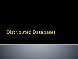 Distributed Databases