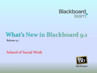 What's New in Blackboard 9.1