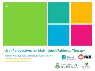 User  Perspectives  on  Multi-touch Tabletop Therapy