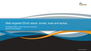 Web targeted  DDoS attack: trends, tools and tactics