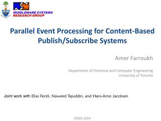 Parallel Event Processing for Content-Based Publish/Subscribe Systems