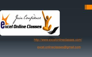 excelonlineclasses/ excel.onlineclasses@gmail