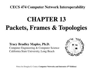 CHAPTE R 13 Packets, Frames & Topologies
