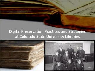 Digital Preservation Practices and Strategies  at Colorado State University Libraries