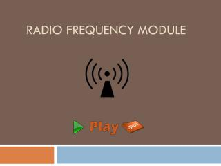 Radio frequency module