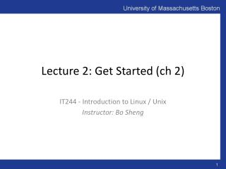 Lecture 2: Get Started ( ch  2)
