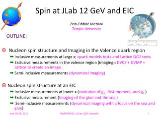 Spin at  JLab  12  GeV  and EIC