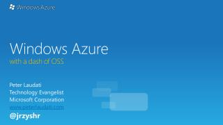 Windows Azure with a dash of OSS