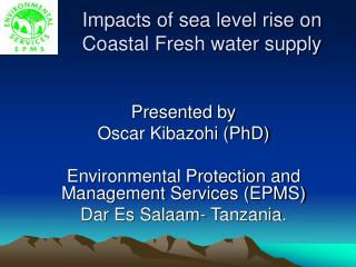 Impacts of Sea Level Rise on Coastal Fresh Water Supply PPT ...