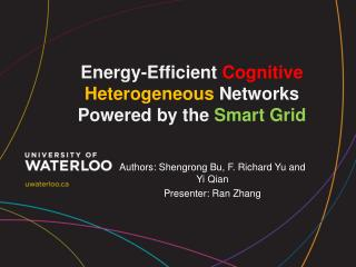 Energy-Efficient  Cognitive Heterogeneous  Networks Powered by the  Smart Grid