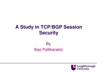 A Study in TCP/BGP Session Security