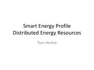 Smart Energy Profile Distributed Energy Resources