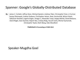 Speaker- Mugdha Goel