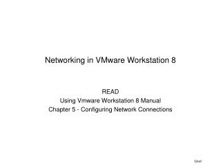 Networking in VMware Workstation 8