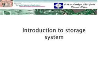 Introduction to  storage system
