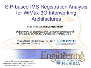 SIP-based IMS Registration Analysis for WiMax-3G Interworking Architectures