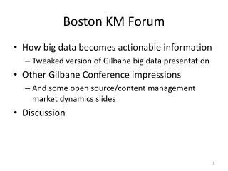 Boston KM Forum