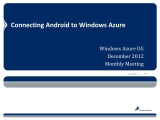 Connecting Android to Windows Azure