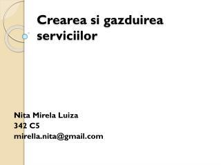 Crearea si gazduirea serviciilor
