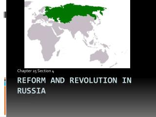 Reform and Revolution in Russia