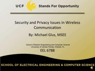 Security and Privacy Issues in Wireless Communication