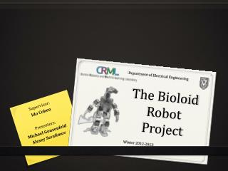 The Bioloid Robot Project