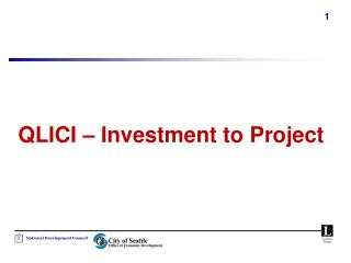 QLICI   Investment to Project