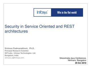 Security in Service Oriented and REST architectures