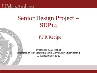 Senior Design Project –  SDP14