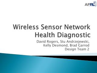 Wireless Sensor Network Health Diagnostic